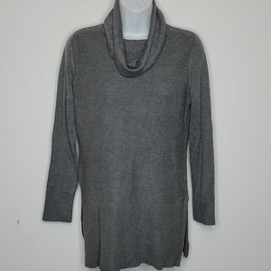 Adrienne Vittadini grey cowl neck Sweater